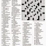 New York Crossword Puzzle Printable Printable Crossword