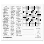 New York Times Crossword Puzzles 2020 Calendar Current