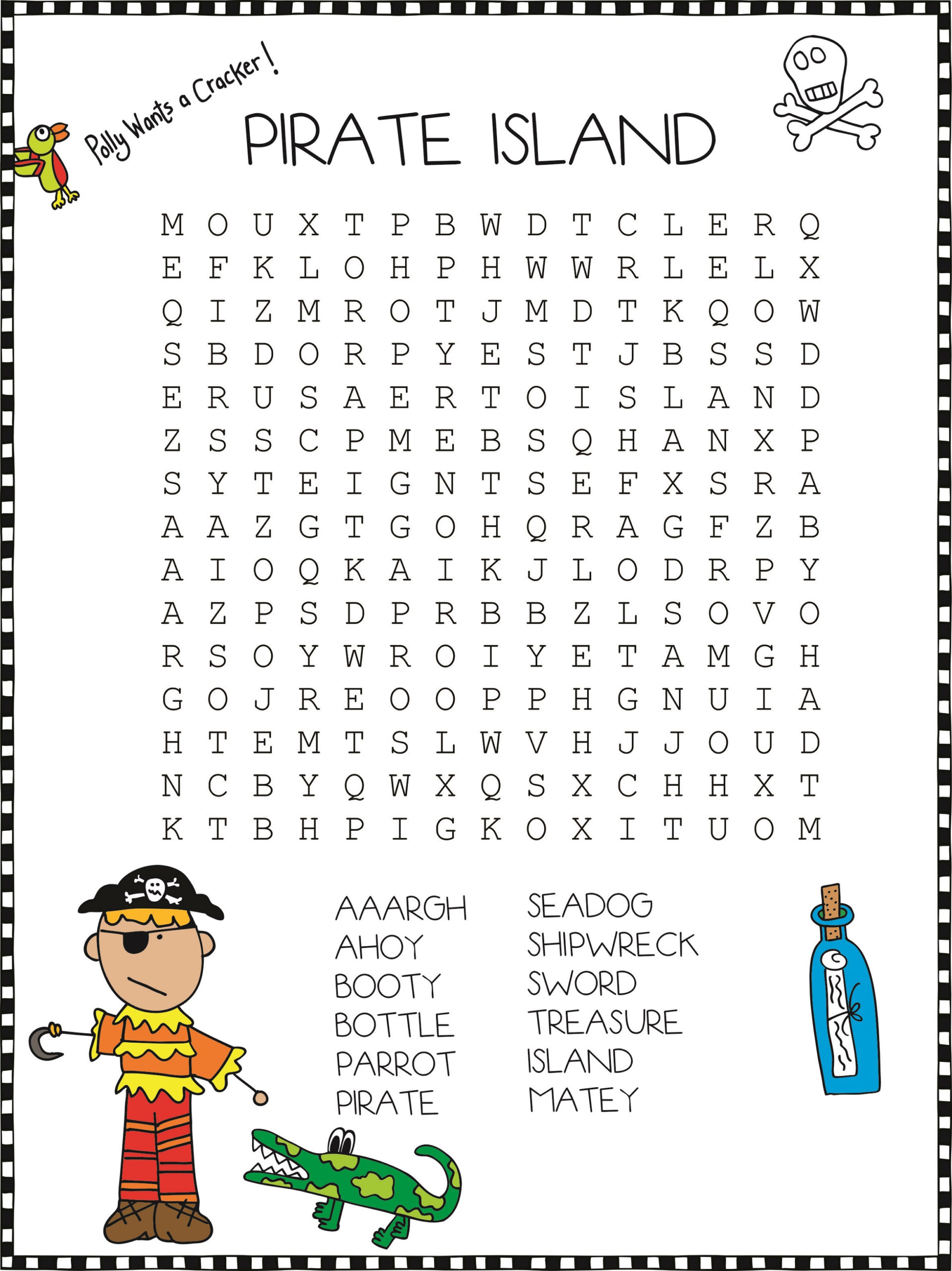 Printable Crossword Word Search