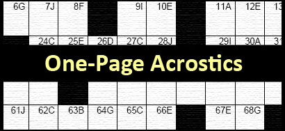 Acrostic Puzzles Free Printable