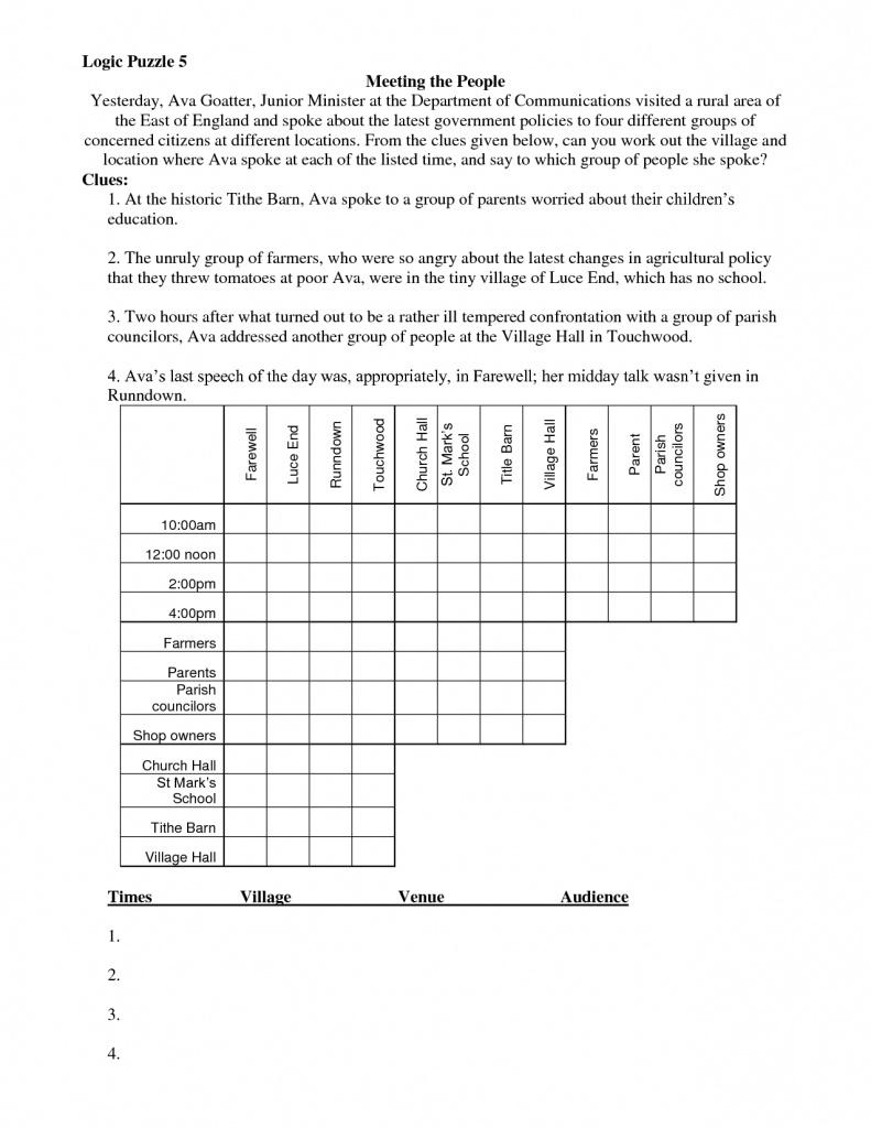 Free Printable Christmas Logic Puzzles