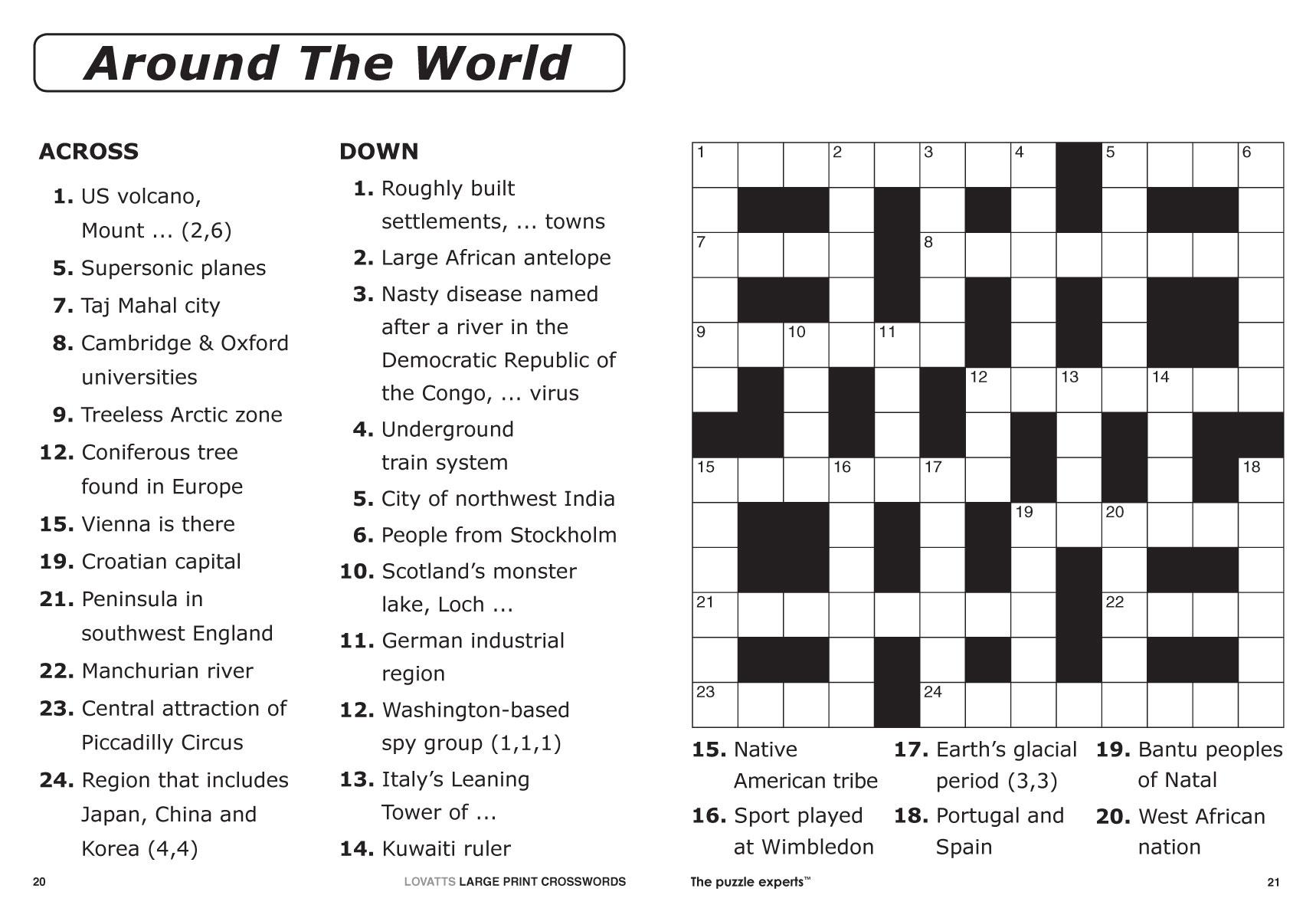 Printable Crossword Puzzles #2