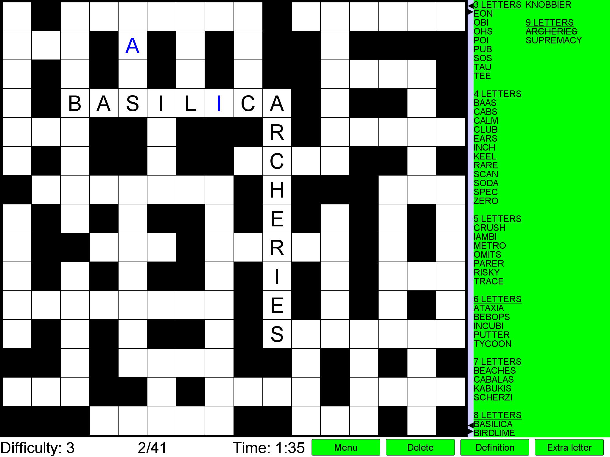 Printable Crossword Metro