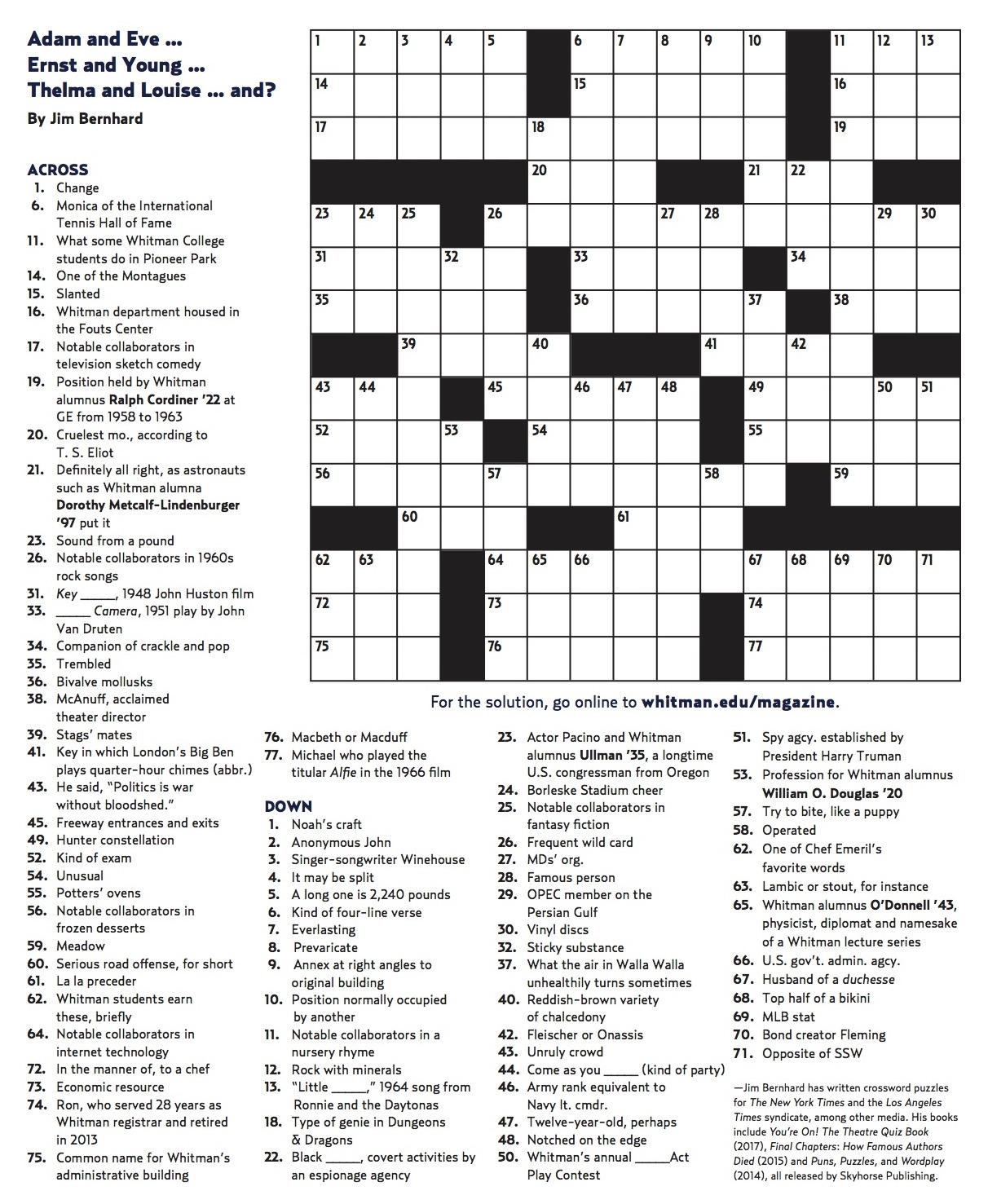 Crossword Generator Free Printable Pdf
