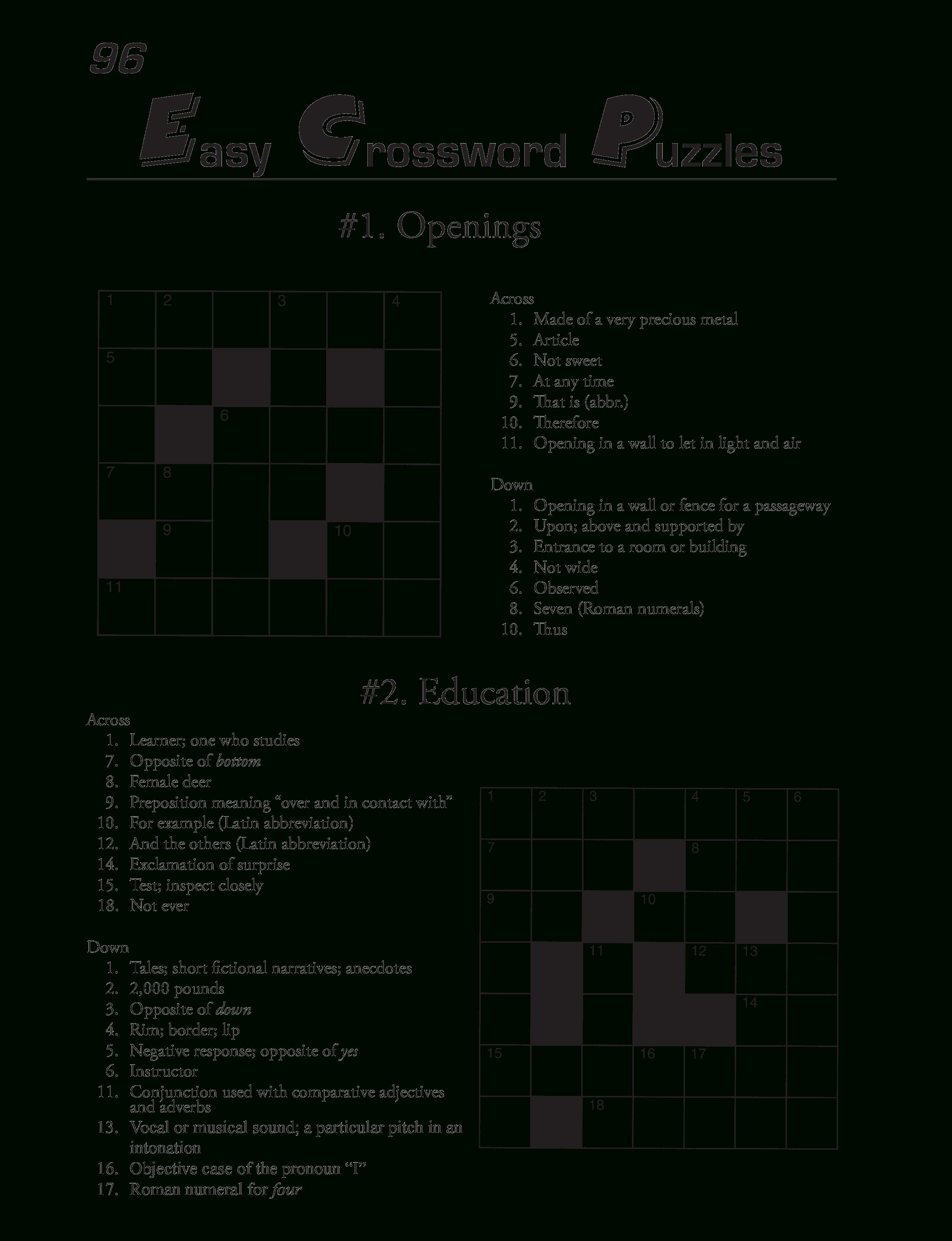 Printable Crossword Template