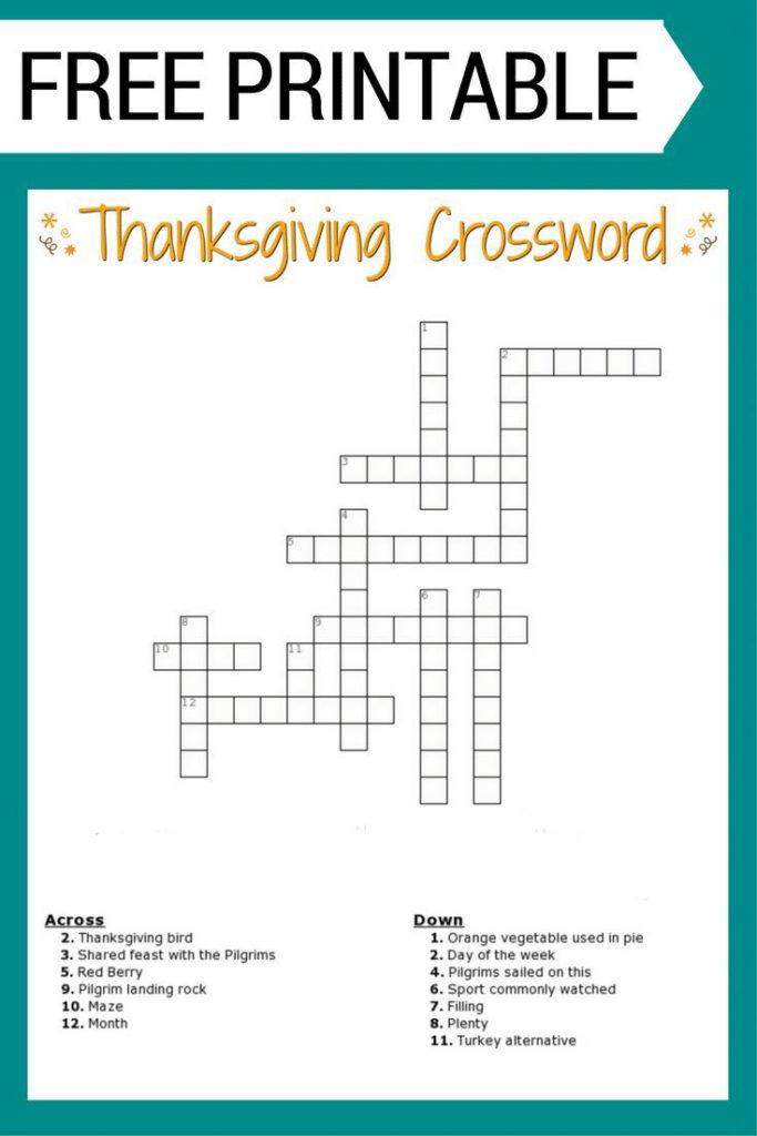 Printable Crosswords For 5 Year Olds Printable Crossword