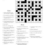 Printable Cryptic Crossword Puzzles Printable Crossword
