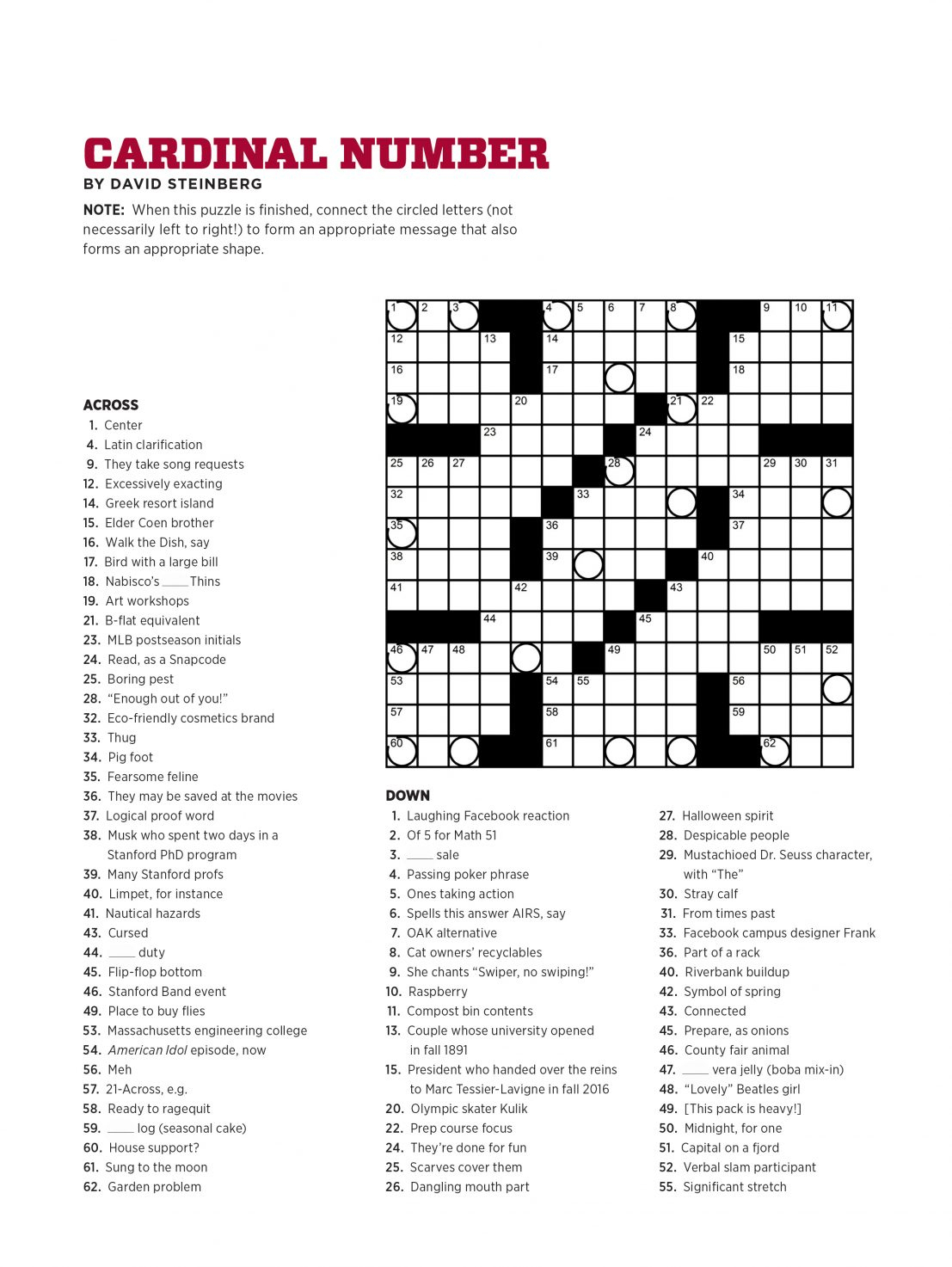 Printable Daily Record Crossword