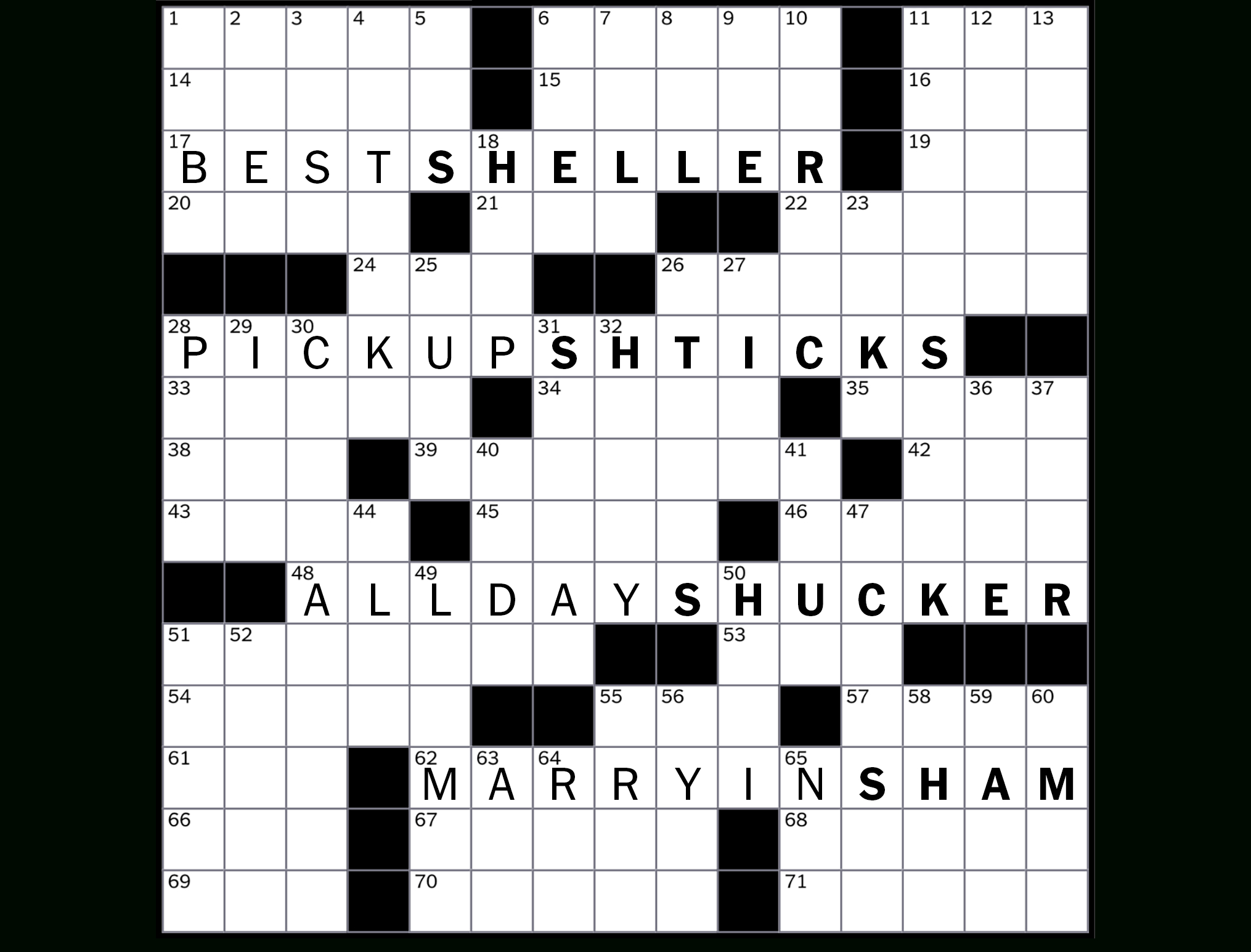 Printable North Of 49 Crossword Puzzles