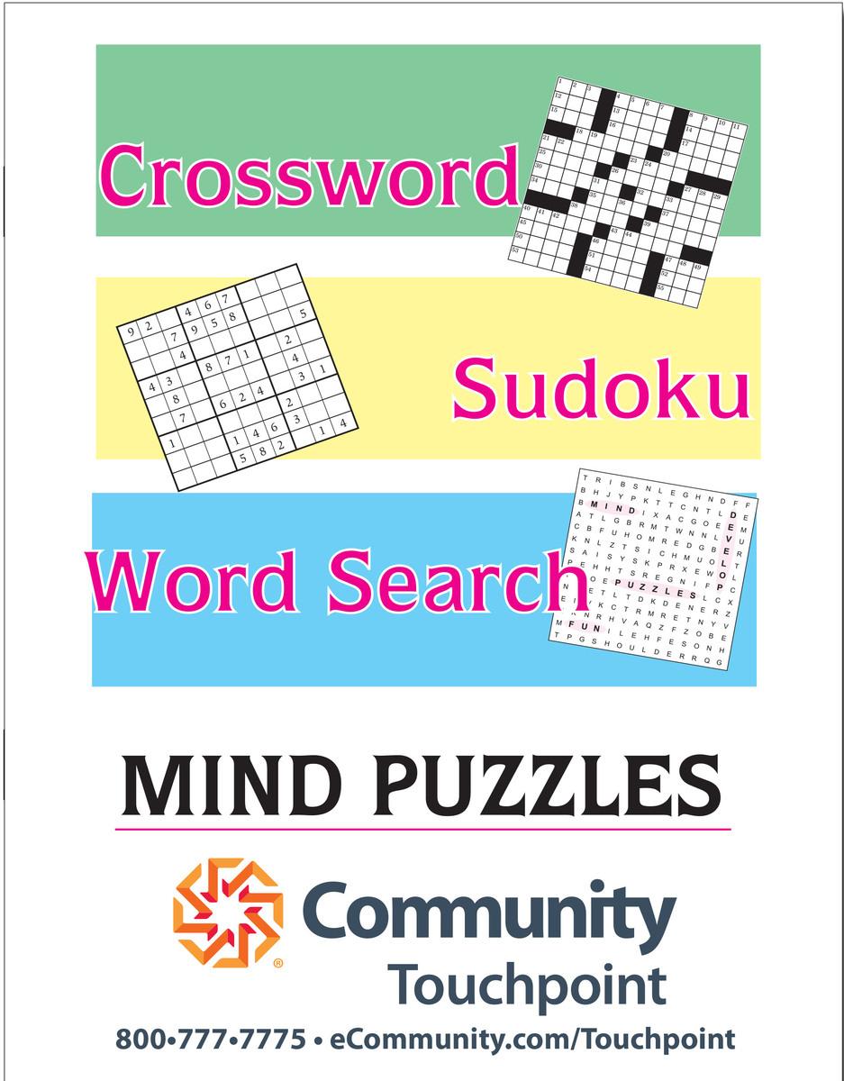 Printable Crossword Booklet