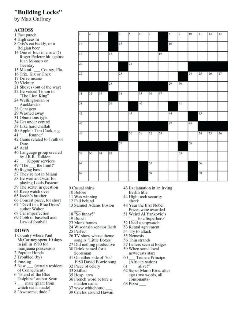 Printable Puzzles Uk Printable Crossword Puzzles