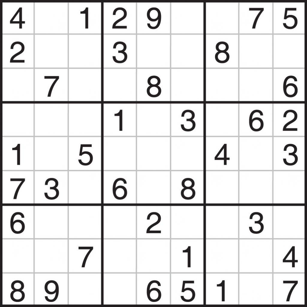 Free Printable 9x9 Sudoku Puzzles