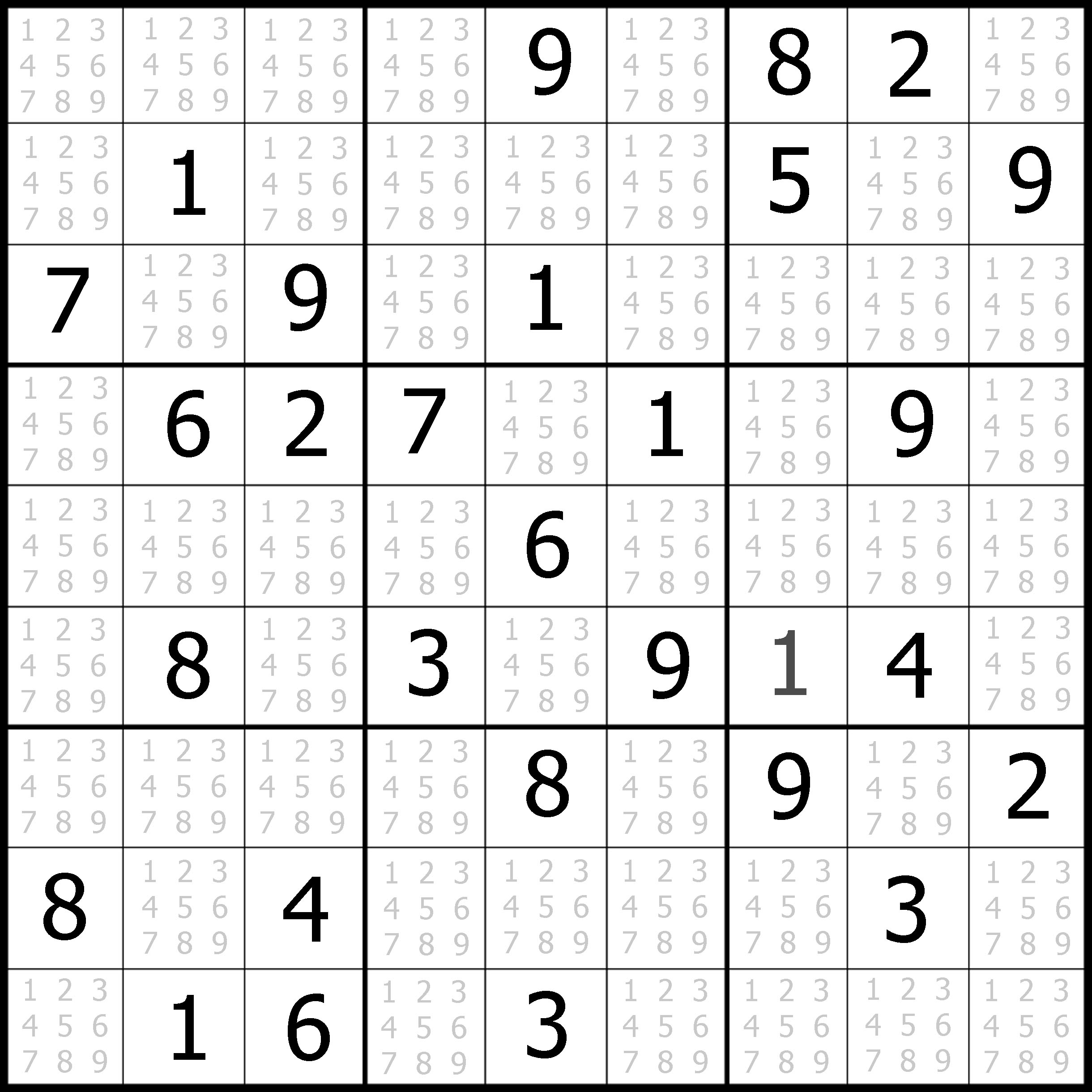 Download Printable Sudoku Puzzles Free