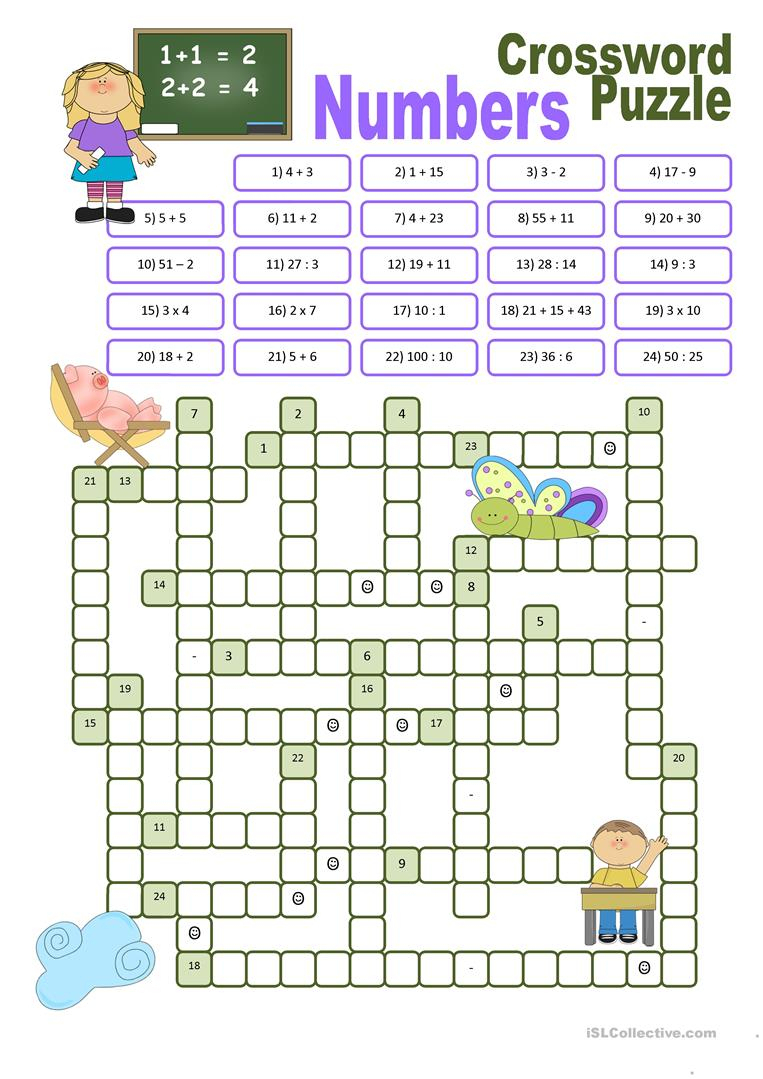 Printable Crossword For 7 Year Old