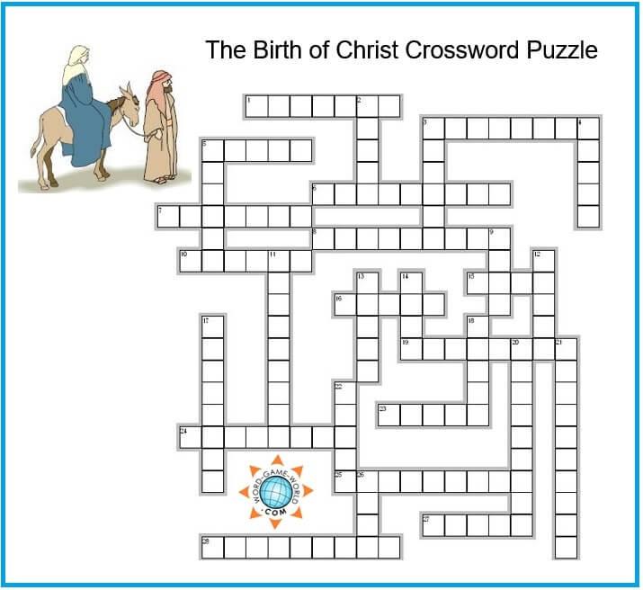 Free Printable Religious Christmas Crossword Puzzles