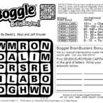 Sample Of Boggle Brainbusters Sunday Square Tribune