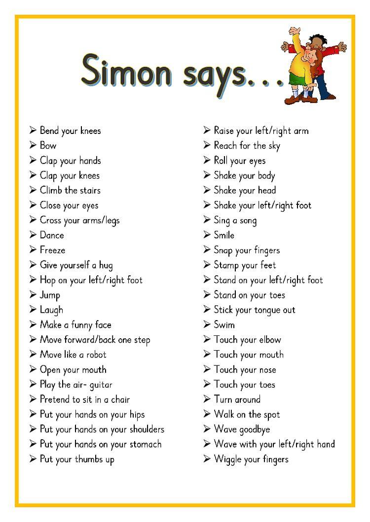 Free Printable Simon Says Puzzles