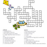 Spring Crossword Puzzle By Celebration Station TpT