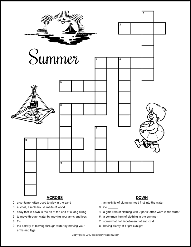 Free Printable Summer Puzzles