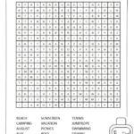 Summer Word Search Summer Words Printable Crossword