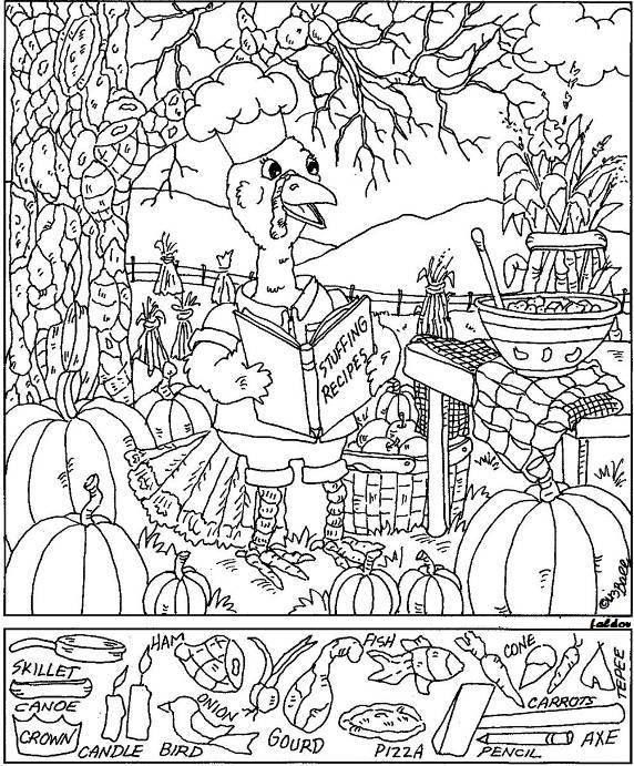 Free Printable Thanksgiving Hidden Picture Puzzles