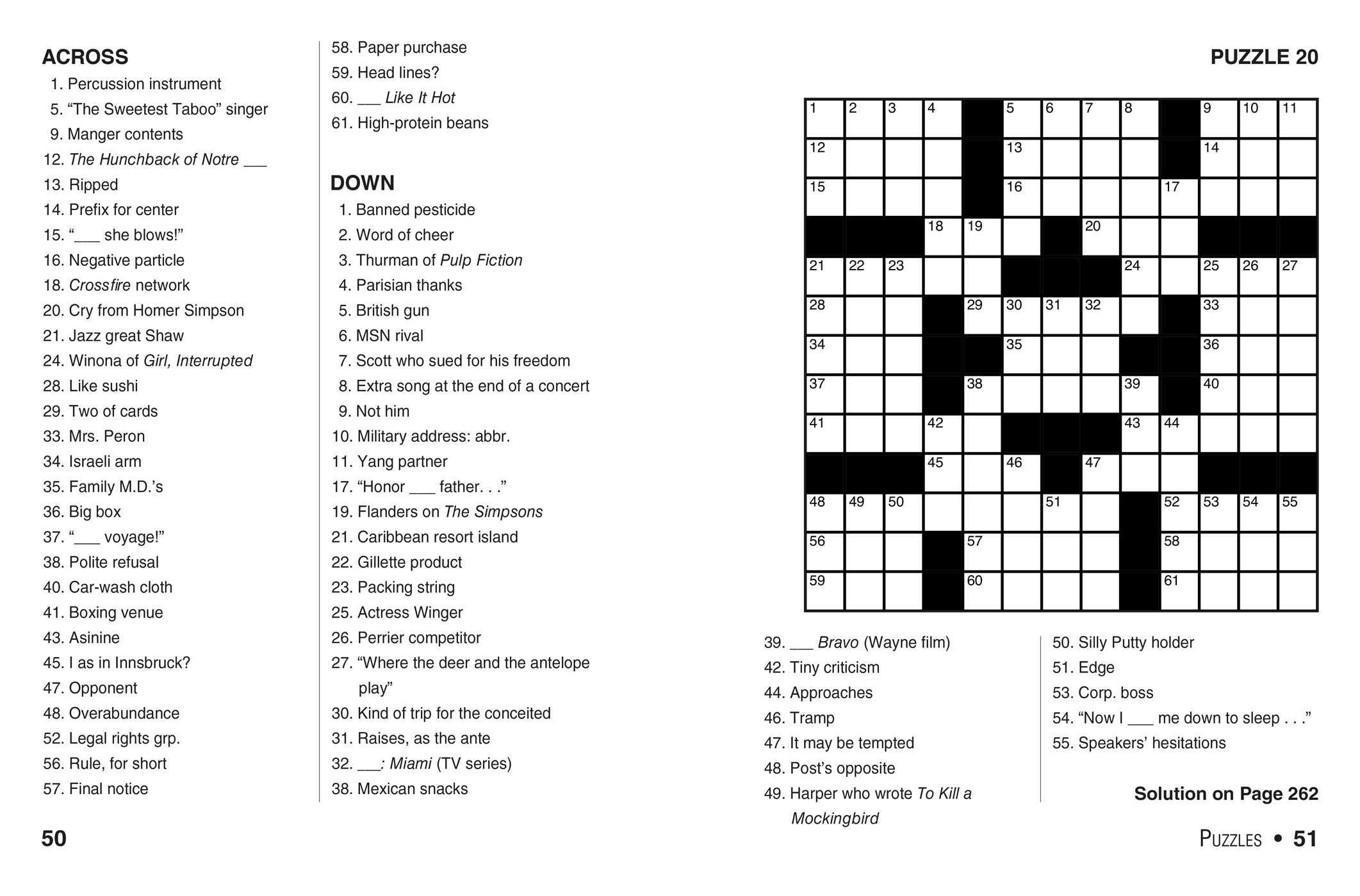 Printable Crossword Book