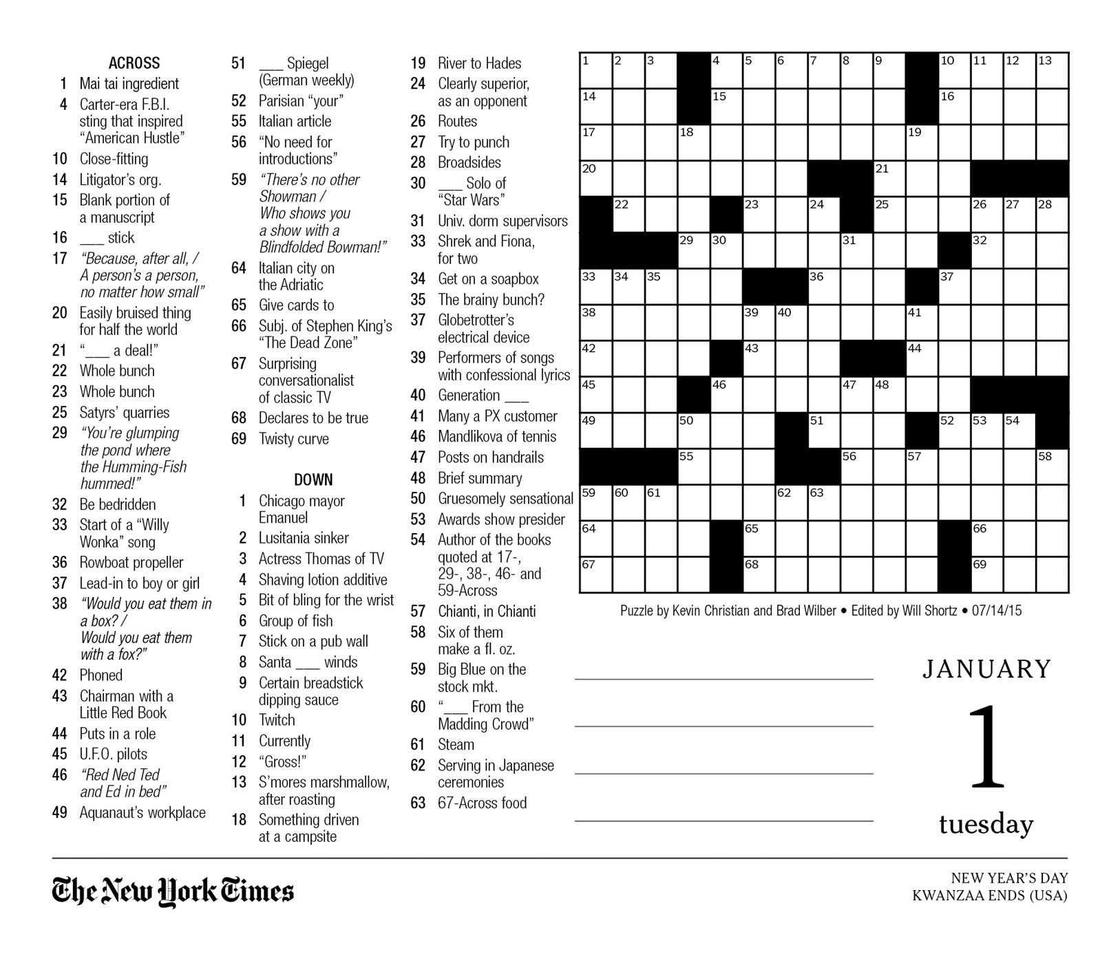 New York Times Crossword Printable Free Monday