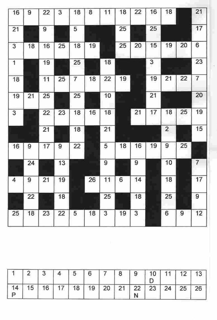 Free Printable Clueless Crosswords