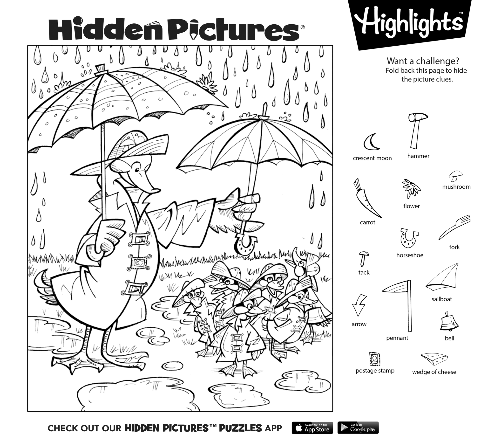 Free Printable Highlights Hidden Picture Puzzles