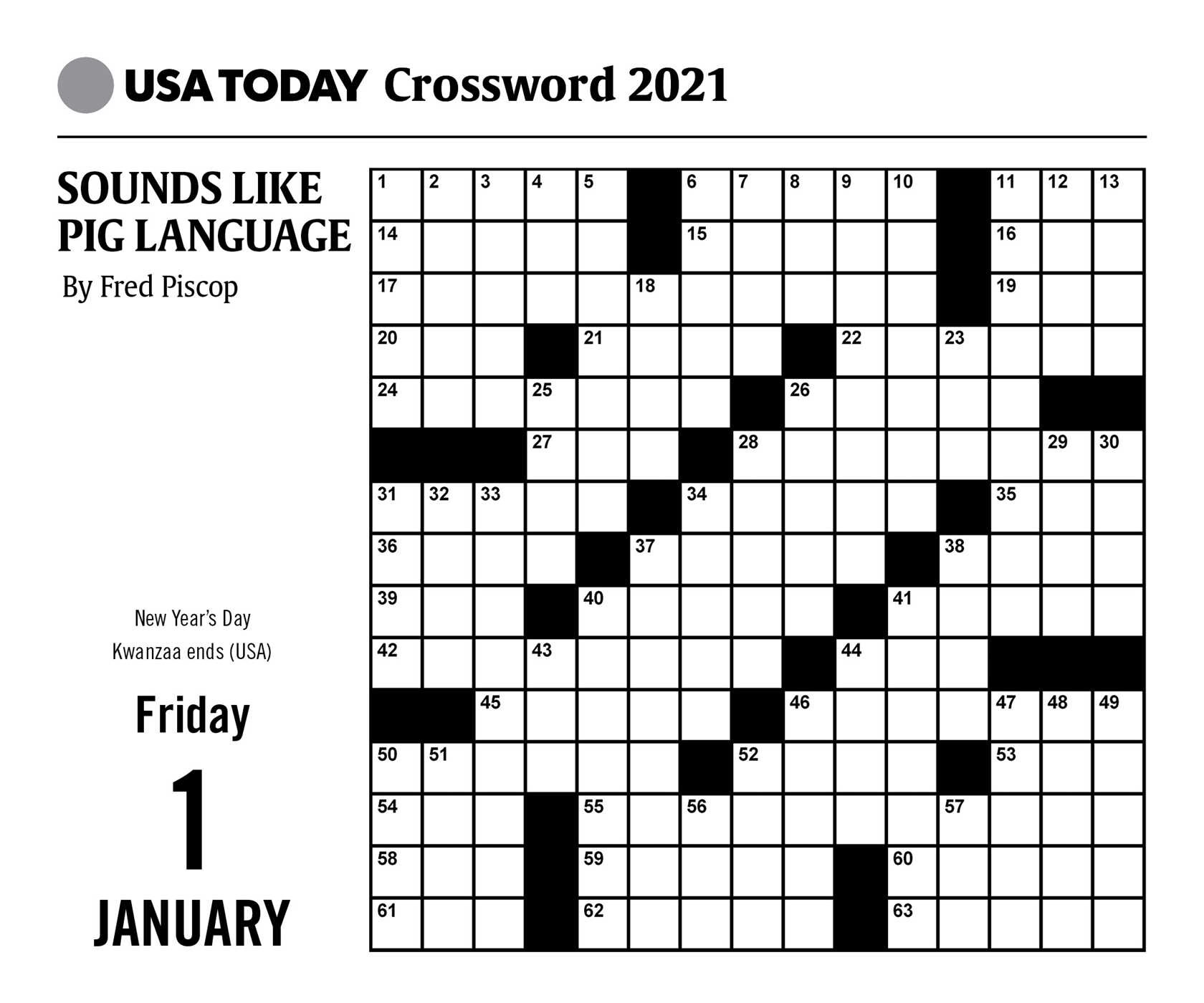 Printable Crossword Puzzles 2021