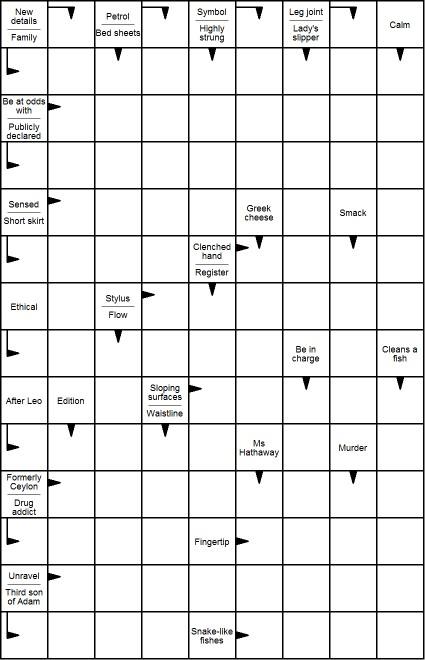 Free Printable Blockbuster Crossword Puzzles