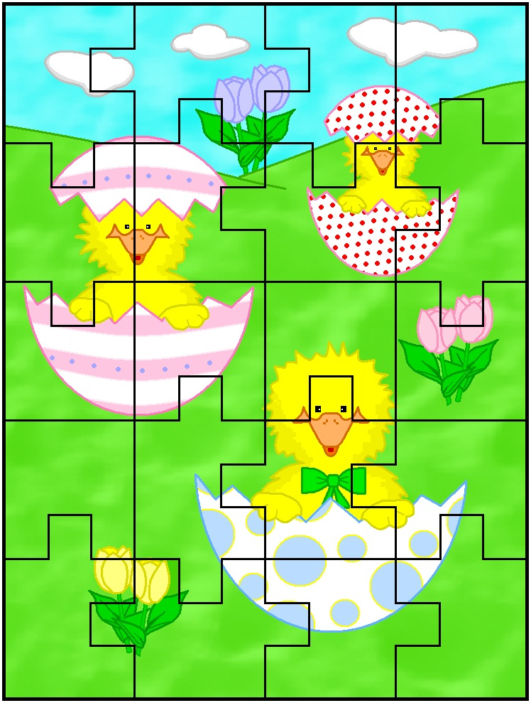 Printable Easter Jigsaw Puzzles