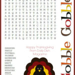 6 Best Thanksgiving Word Search Puzzles Printable