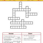 Birthday Colored Crossword Template
