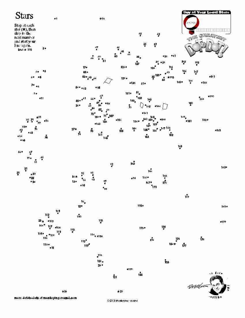 Free Printable Dot To Dot Puzzles Pdf