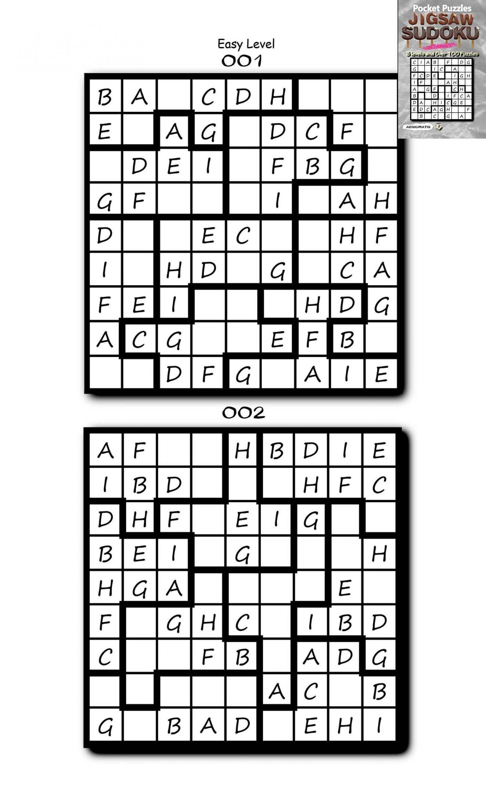 Printable Jigsaw Sudoku Puzzles