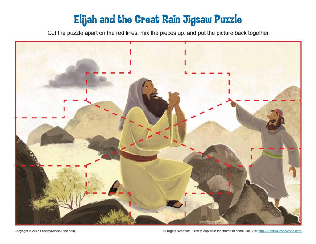 Elijah And The Great Rain Jigsaw Puzzle Children S Bible