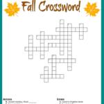 Fall Crossword Puzzle Free Printable Worksheet