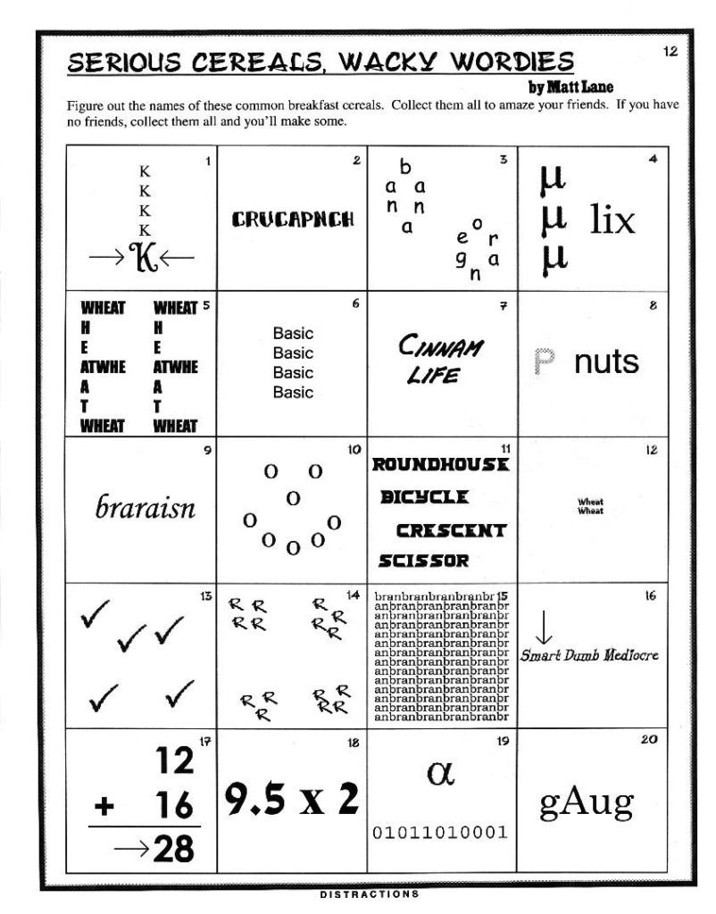 Figure It Out Brain Teasers For Kids Word Puzzles