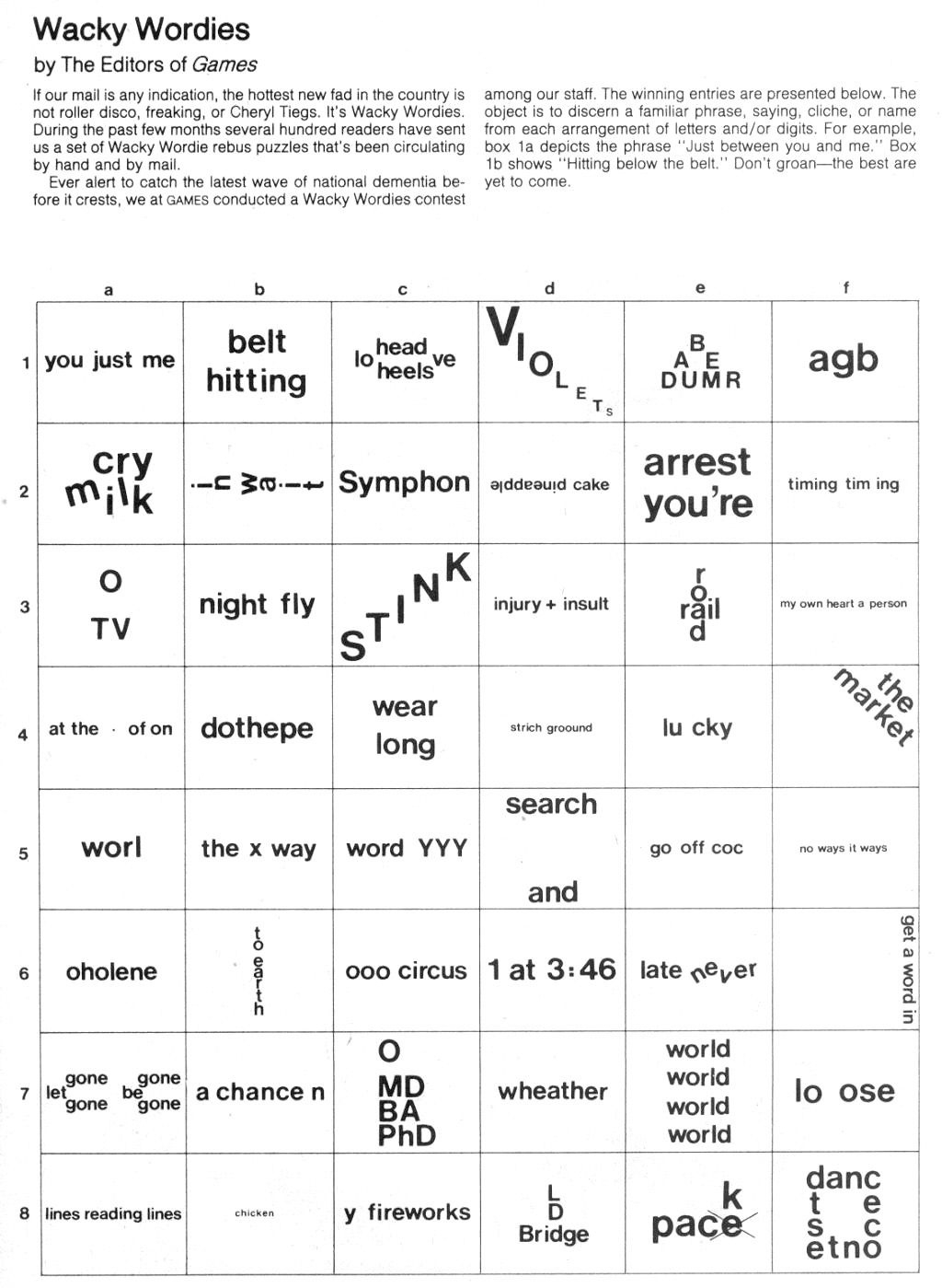 Free Printable Puzzles And Brain Teasers