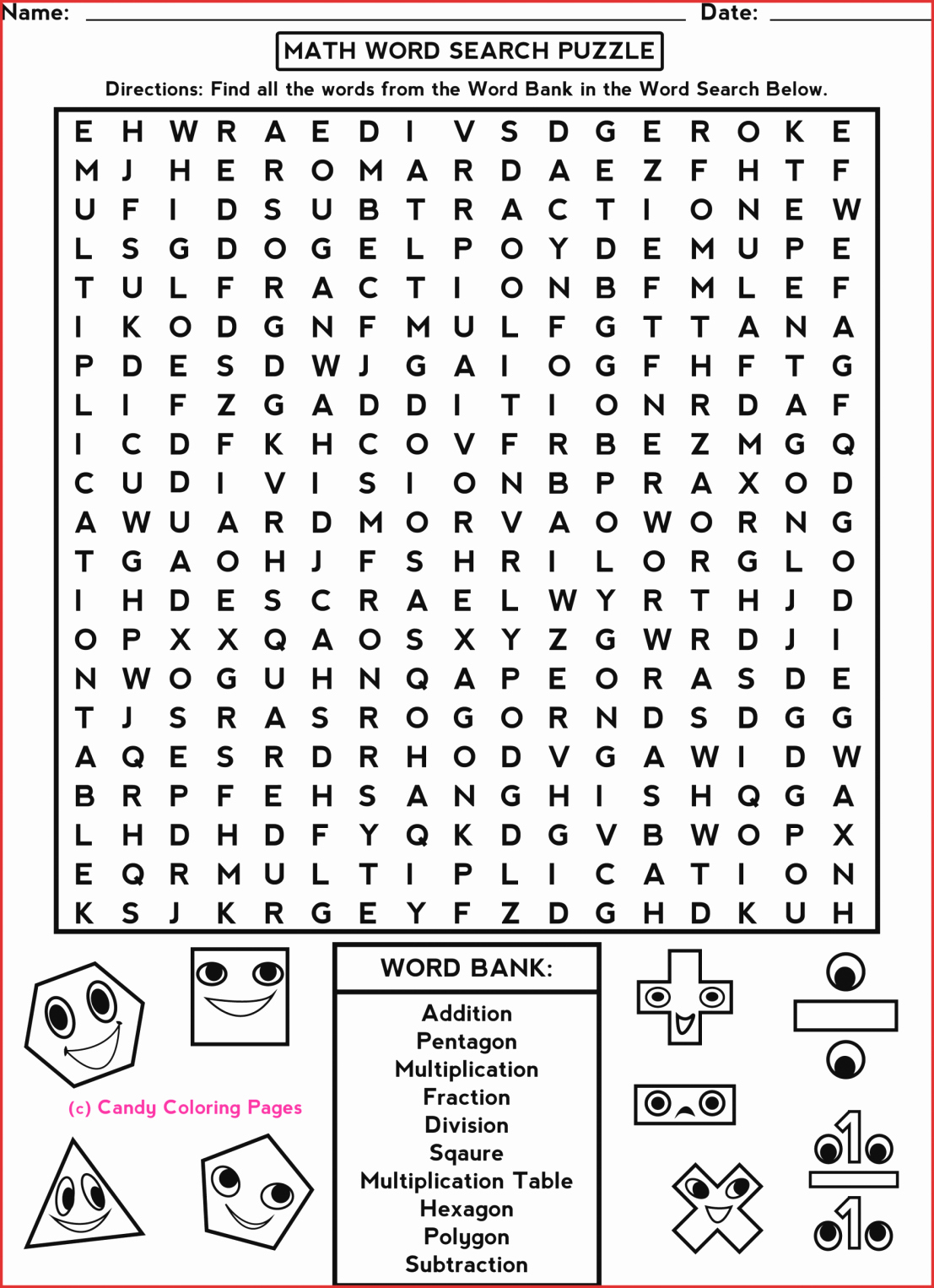 Free Printable Crossword Puzzles For 7th Graders