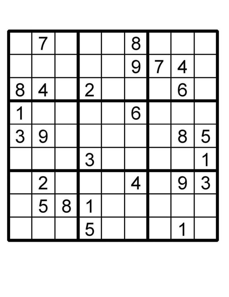 Free Printable Fiendish Sudoku Puzzles
