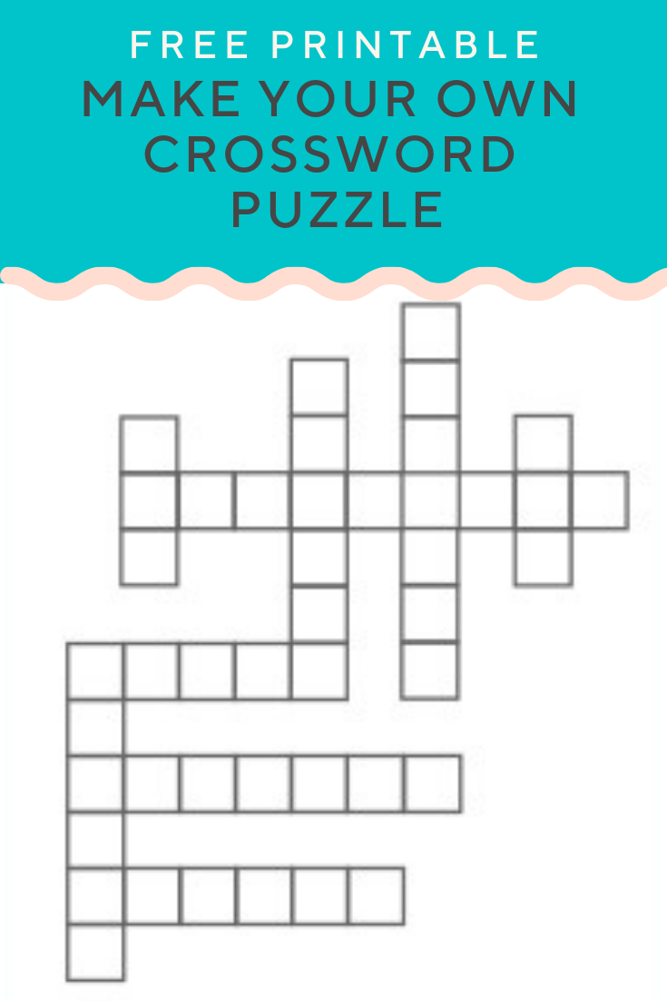 Free Printable Crossword Make Your Own