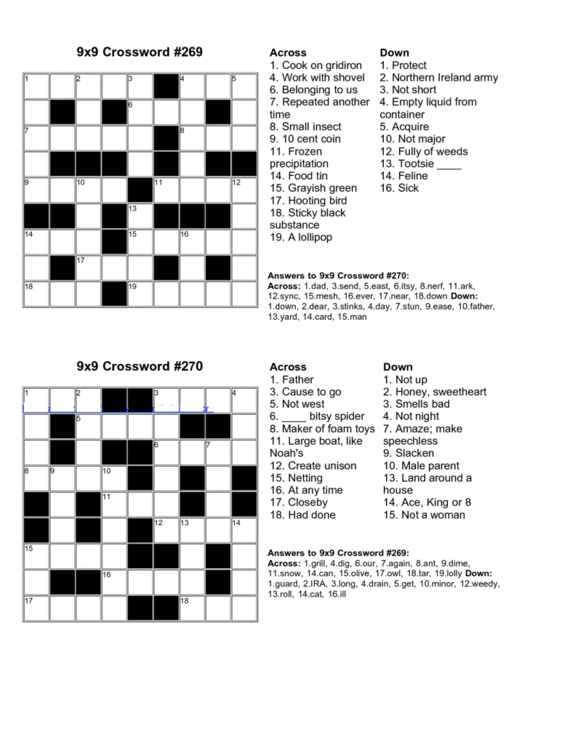 Make Your Own Crossword Puzzle Free Printable With Answer Key