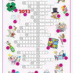 New Year S Eve Day Crossword Puzzle Worksheet Free ESL