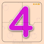 Number Four 4 Number Jigzaw Puzzles For Kids Mocomi