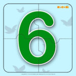 Number Six 6 Number Jigzaw Puzzles For Kids Mocomi