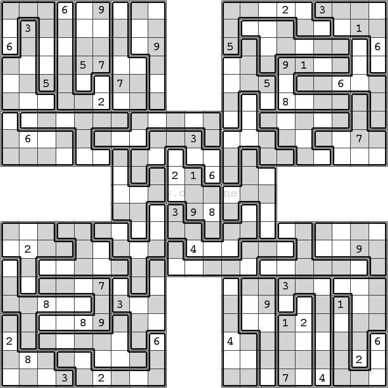 Printable Jigsaw Sudoku Puzzles Free