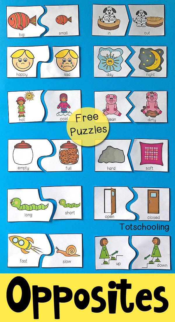 Free Printable Kindergarten Puzzles