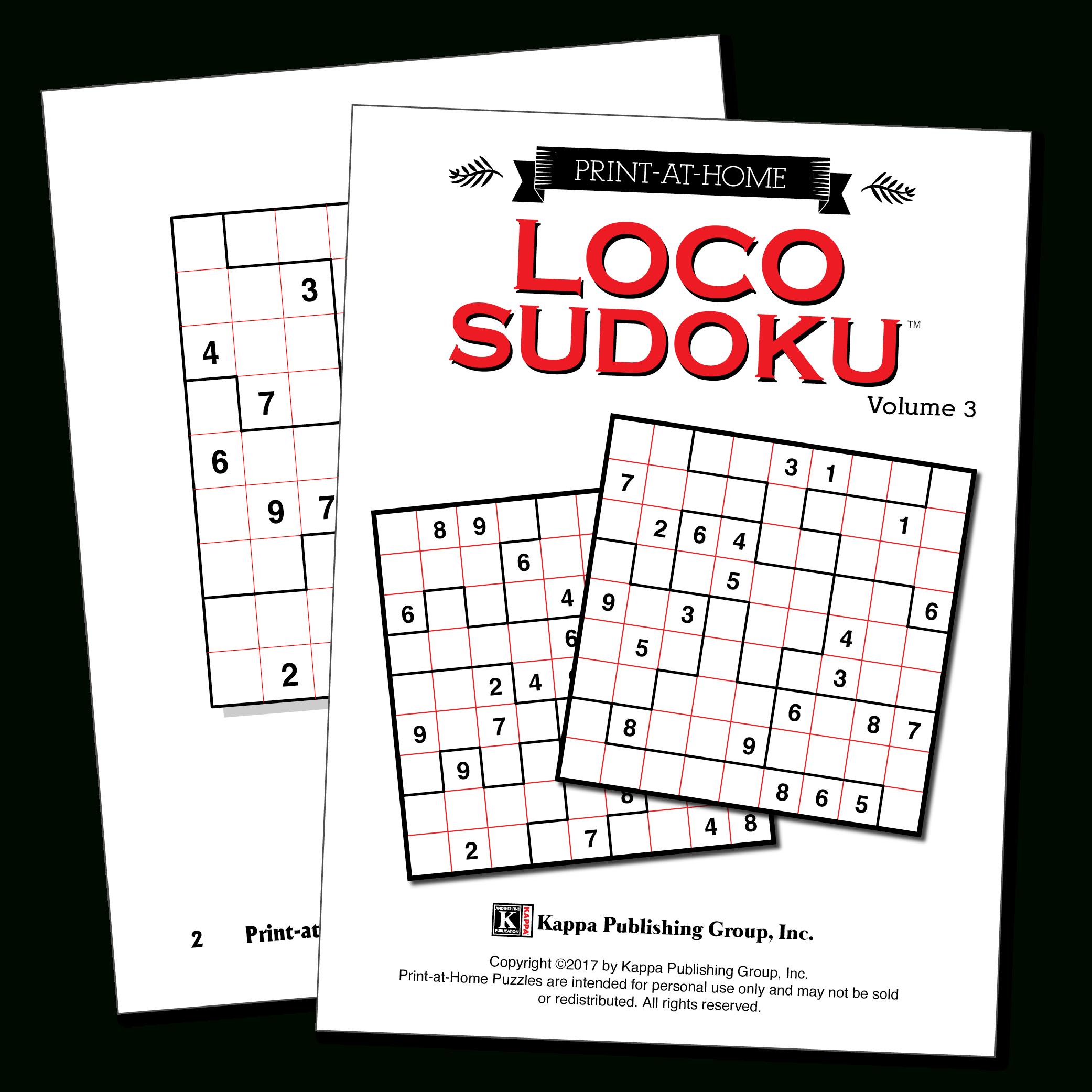 Free Printable Loco Sudoku Puzzles